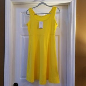 Women Bright Yellow Dress